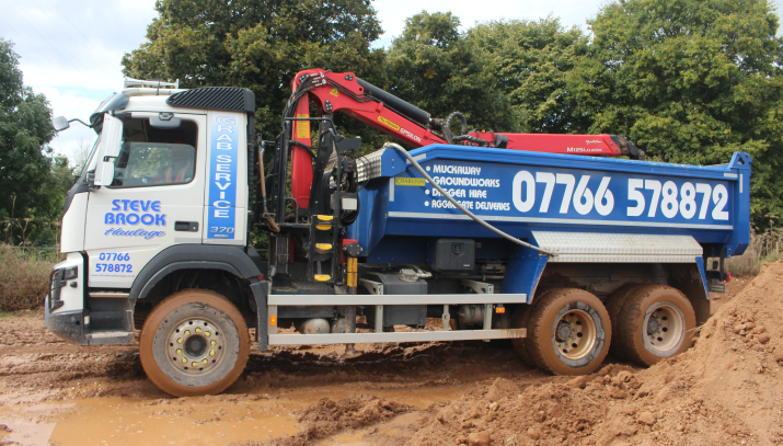 grab lorries muckaway exeter