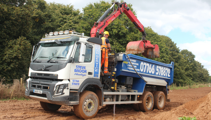 grab lorries devon aggregate